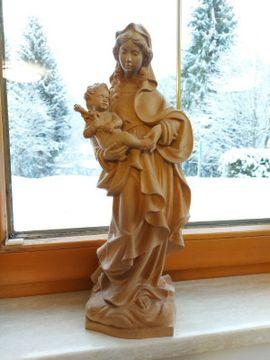 Maria Mutter Gottes, handgeschnitzt, Holzfigur