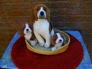 3 Hunde Stofftiere