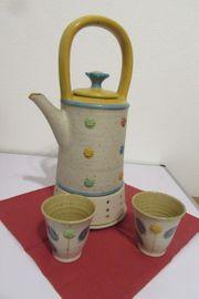 Designer Teekanne mit Becher