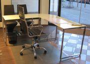 Neuwertiger Schreibtisch Drehstuhl und zwei
