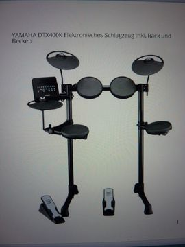Drums, Percussion, Orff - Schlagzeug Yamaha E-Drums Kit DTX400k