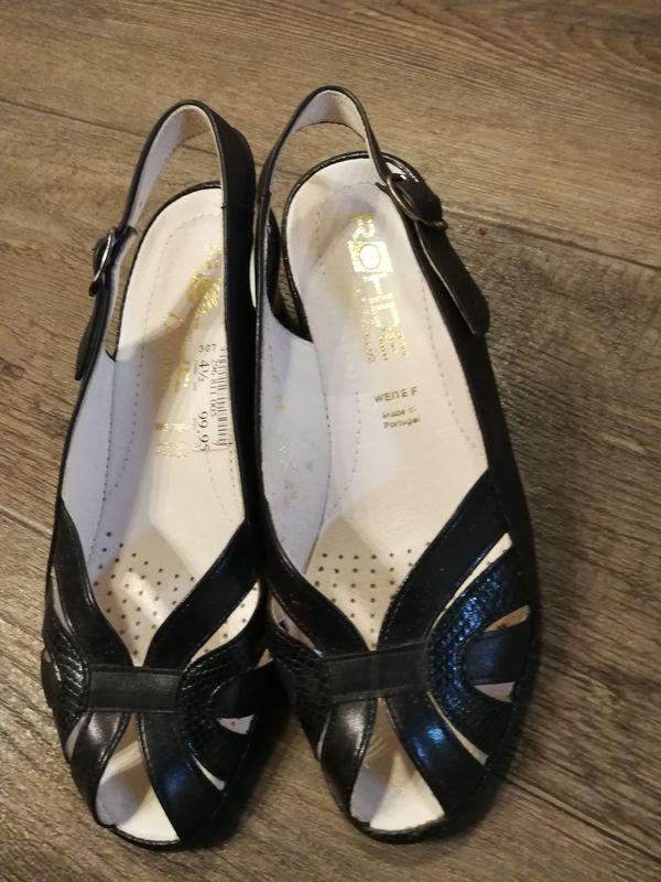 Schwarze Damen-Sandalen Gr 37