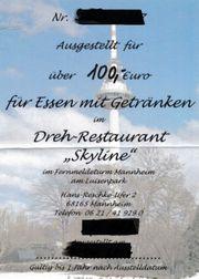 Gutschein Dreh-Restaurant Skyline im Luisenpark