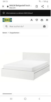 Ikea Malm Bett 180x200