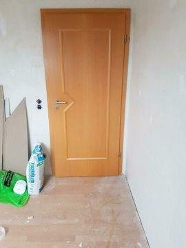 Türen, Zargen, Tore, Alarmanlagen - Holztüren Buche teilweise mit Glasausschnitt