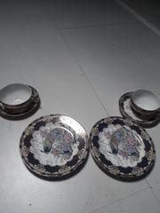 6-teiliges Porzellangedeck