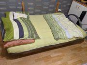 Bett Schlafcouch Massiv Bettkasten 140cm