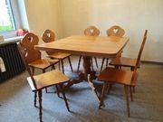 Esstisch Essgruppe Tisch Stuhl Holz