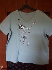 T-Shirt Gr 50 türkis mit
