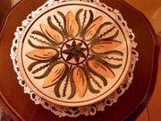 Handbemalter DDR-Keramikteller Thüringen