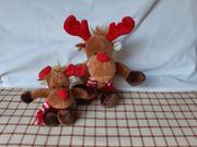 Weihnachts-Rentiere Plüschtiere Kuscheltiere