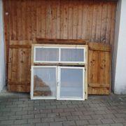 3x Fenster - Set komplett Stockrahmen
