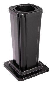 Grabvase schwarz Blumenvase mit Einsatz