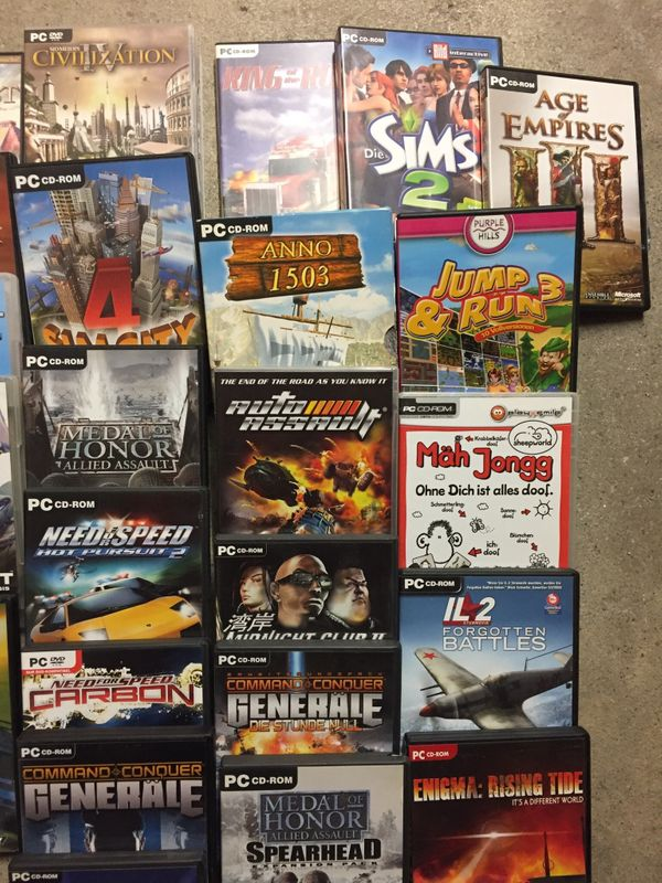 PC Spiele Konvolut komplette Kiste