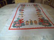 Tischdecke mit weihnachtlichen Motiven - neu