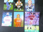115 Autogrammkarten 1987-1990 Fußball Tennis