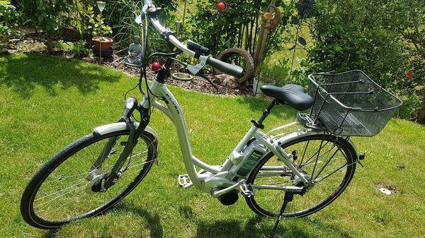 E-Bike Damen-Fahrrad mit Tiefeneinstieg