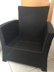 2 Polyrattan Sessel