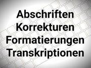 Abschrift Korrektur Formatierung Transkription