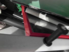 Spiegel 70cm x 45cm RETRO mit rotem Rand