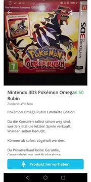 Nintendo 3DS Pokemon Omega Rubin