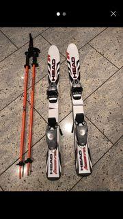 Head Skier und Stöcke