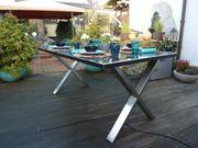 Solartisch Solar-Gartentisch im Design-X - speist