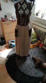 NEU Trachten Kleid Material Mix