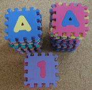 Puzzlematten Spielteppich Zahlen Buchstaben 70