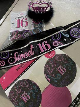 Dekoartikel - Geburtstagsdeko - SWEET 16 -