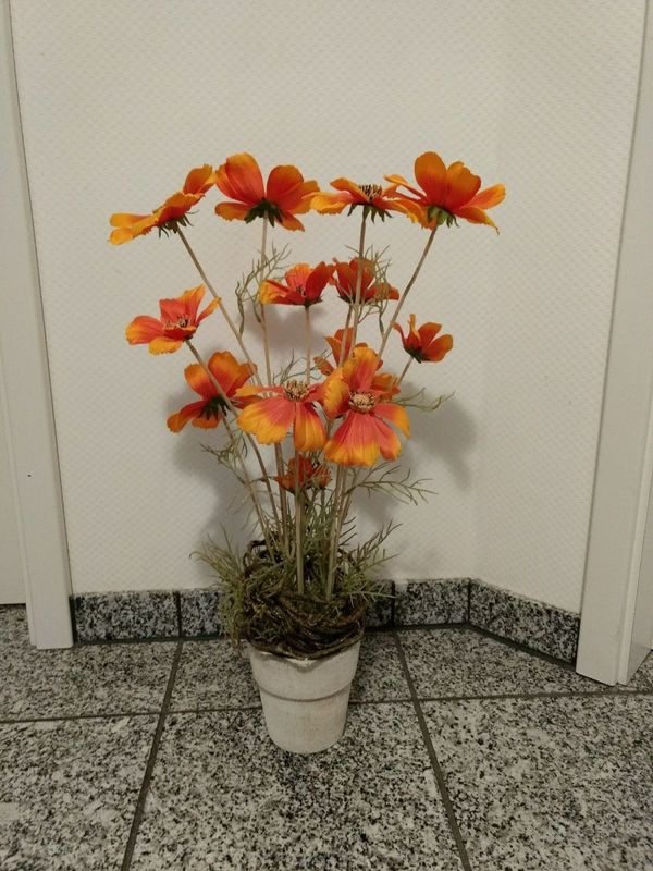 Deko Blumen im Topf Kunstpflanze