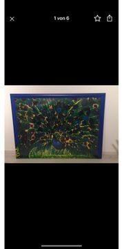 Kunstdruck Walasse Ting - Peackock - 138x100cm