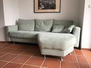 Wunderschöne mintfarbene Couch Liegesofa neuwertig