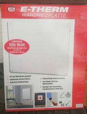 E-Therm Wandheizplatten 550Watt 1 Preis