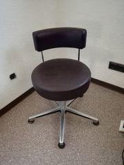 Schreibtischstuhl Bürostuhl Drehstuhl mit Lederbezug