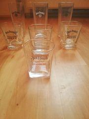 7 Jack Daniels Gläser
