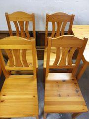 4 Stühle Kiefernholz