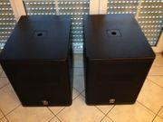 Zwei Yamaha DXS 15 Aktivlautsprecher