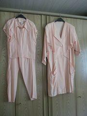 3-tlg Mantel-Shirt-Hose - M -lachsfarben - für