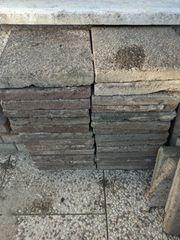 Steine Gehwegplatten Beeteinfassung zu verschenken