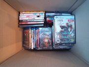 kiste mit spielen und dvd