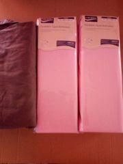 Spannbettlaken rosa und grau