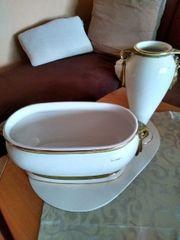 Porzellan Schale und Vase