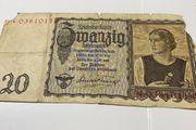 1939 Reichsmark Reichsbanknote Papiergeld 20
