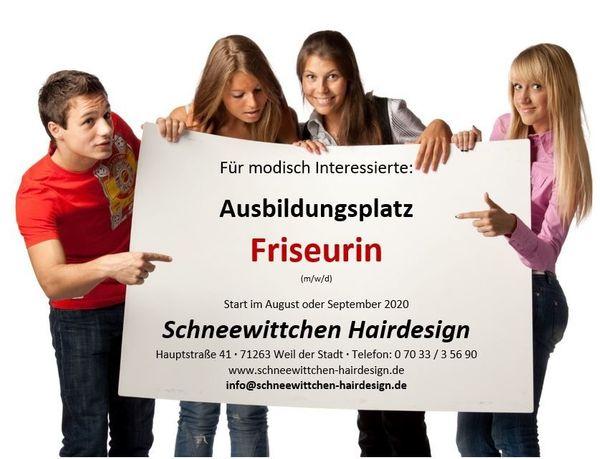 Friseurin - Ausbildungsplatz 2020