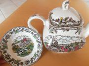 schöne Keramik Teekanne Schale