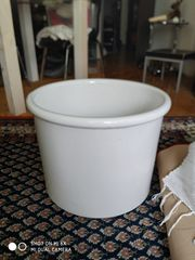 Zu verschenken Keramikübertopf weiss vca