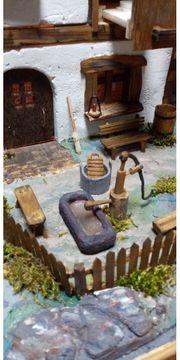 Krippe mit Wasserrad