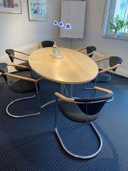 Konferenztisch oval 215 x 120