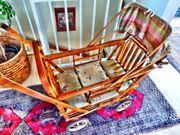 Bambus Kinderwagen - Antik neu aus